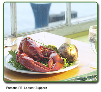 Famous PEI Lobster Suppers.